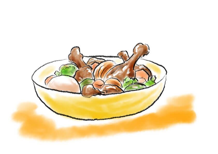アシタモの絵日記2021年8月16日鶏のさっぱり煮